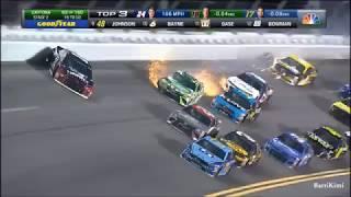 Monster Energy NASCAR Cup Series Daytona July 2018 Byron Kyle Busch Wreck
