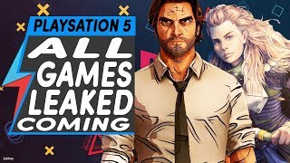 Playstation 5 Games Leaked  All The Games Coming To Ps5 Games Leaked
