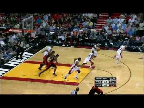 LeBron's sick dish to Haslem for the slam!