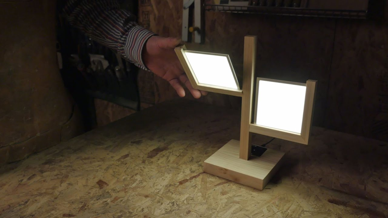 How To Make A Table Lamp With LG Display OLED Light DIY Kit   YouTube