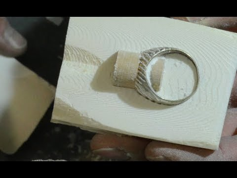 Silver Ring Made With Fusion In Cuttlebone Mold Youtube