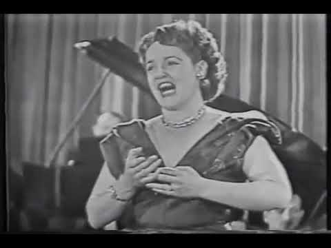 ELEANOR STEBER SINGS -  OUT OF MY DREAMS  1954 TV KINESCOPE