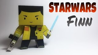 Star Wars Finn Paper Crafts tutorial !