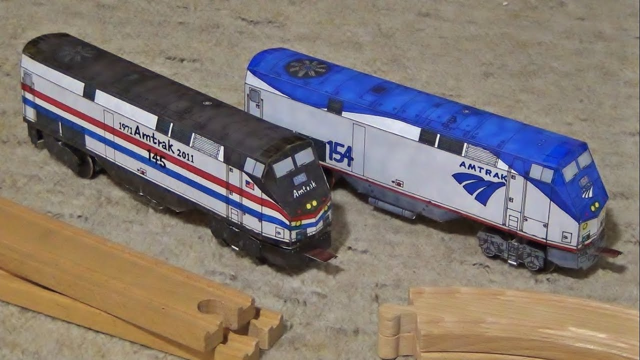 Printable Toys For Tots Train : Amtrak paper models images