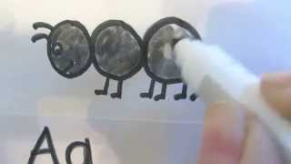 Draw the Alphabet Letter A: A is for Ant