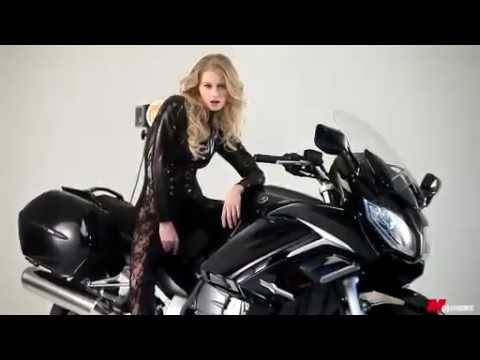 Alena Savostikova Motorbike 2013 Cover Photo Shoot