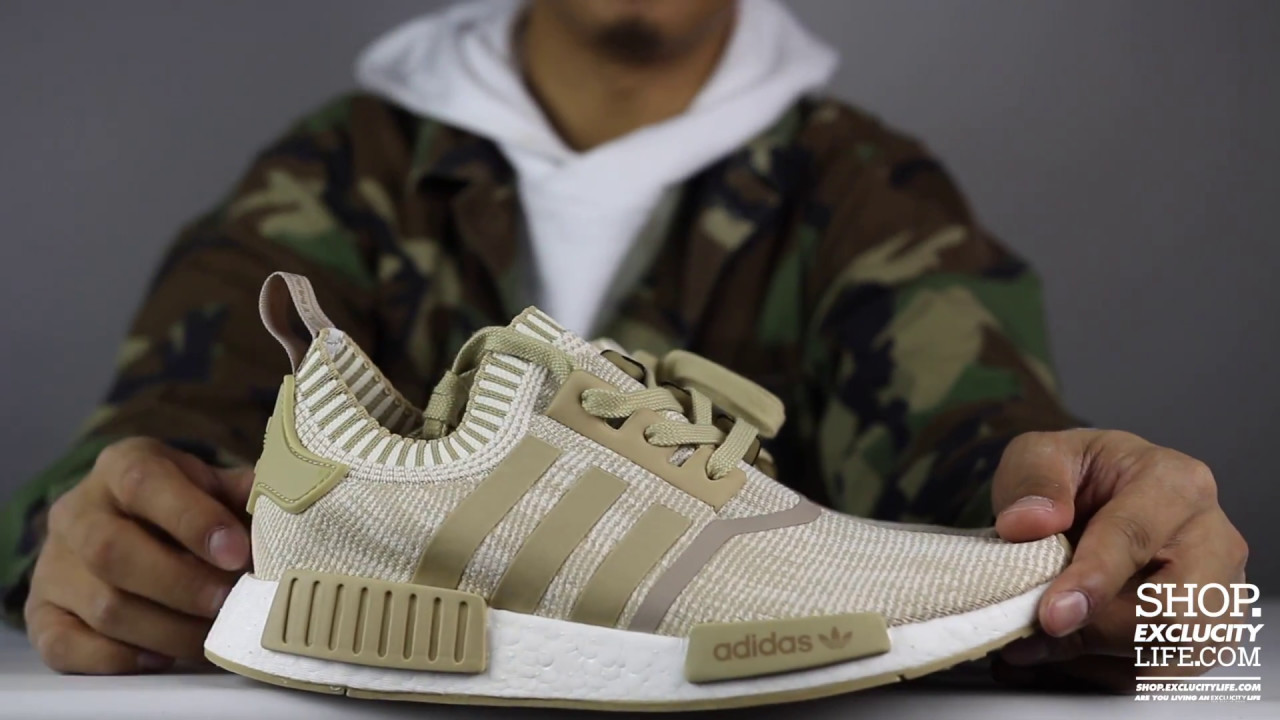 new arrival 1a13f 76a09 Adidas NMD R1 PK Tan White Unboxing Video at Exclucity