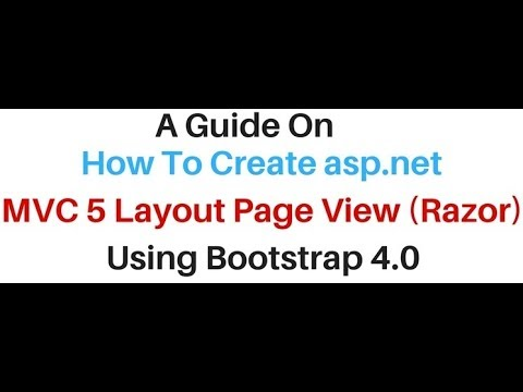 MVC Layout Page View (razor) In Asp.net Using Bootstrap 4.0