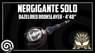 Monster Hunter World | Nergigante Solo 4'48'' - Bazelreid Rookslayer (Hunting Horn)