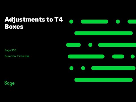 Sage 300 Canada — Adjustments To T4 Boxes (Canada)