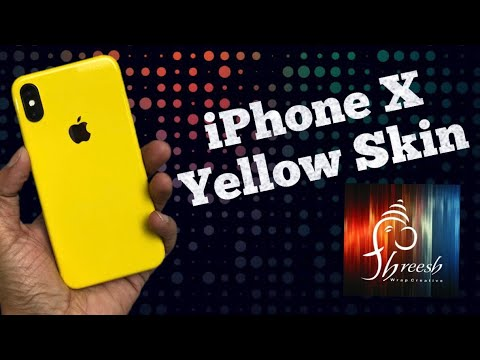 sneakers for cheap ff3bf a692b iPhone X Glossy Yellow Skin