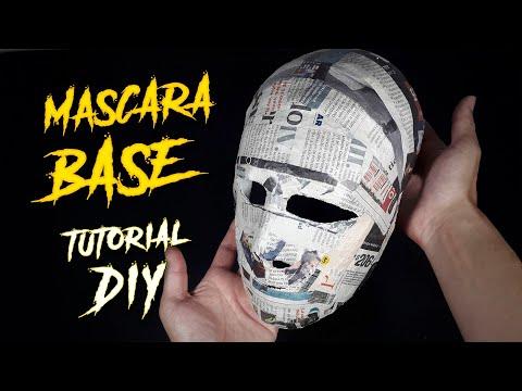 Así Se Hace La Máscara Base De Yeso Y Periódico / Tutorial / DIY / Hazlo Tú Mismo /¿Cómo Se Hace?