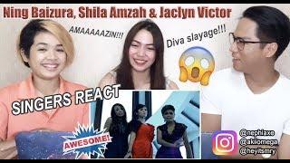 Beribu Sesalan - 3 Suara Ning Baizura, Jaclyn Victor and Shila [SINGERS REACT]