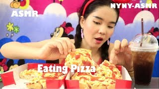 ASMR Eating Pizza Extra Cheesy And Cocacola | Eating Mukbang