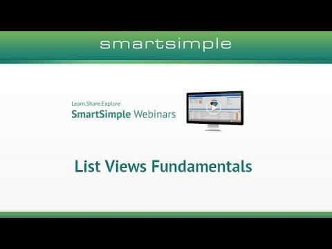 List Views Fundamentals