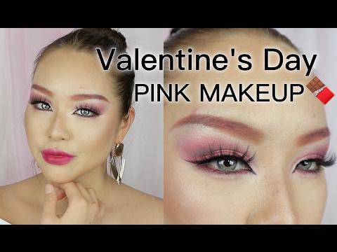 ほぼプチプラでバレンタインピンクメイク|VALENTINE`S DAY MAKEUP | PINK MAKEUP