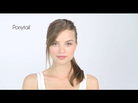 Easy Side Bangs Without Scissors & Ponytail How-To - YouTube