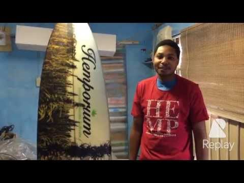 Hemp Surfboard project