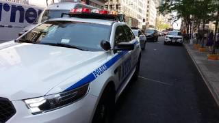 Brand New 2015 NYPD Midtown North Task Force Ford Police Interceptor On Scene Of An Accident