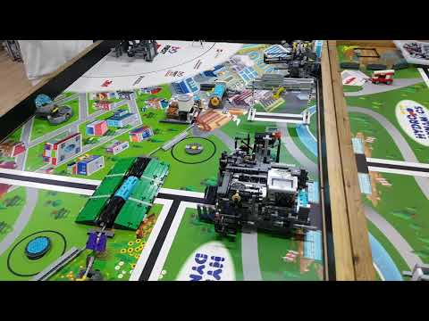 Team RED ] FLL Hydro Dynamics Robot Game practice. (525 Points)