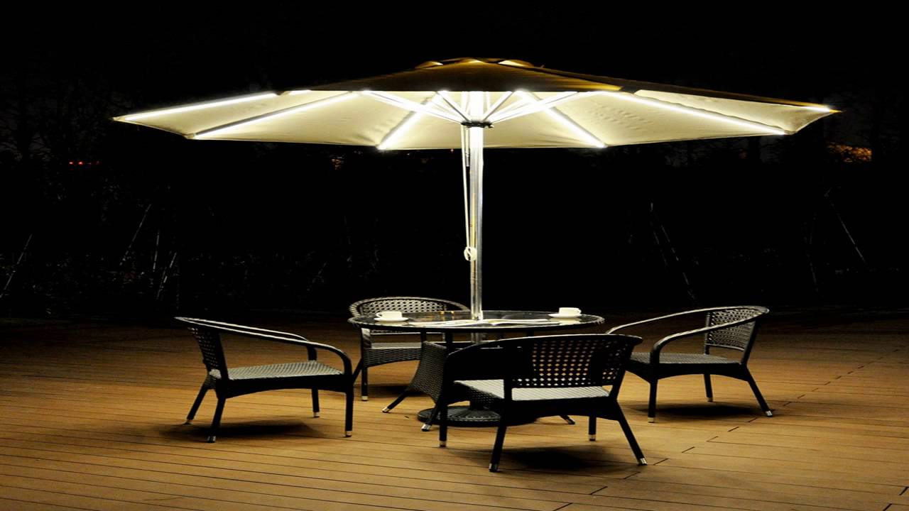 Ordinaire STRONG CAMEL 9 CANTILEVER SOLAR 40 LED LIGHT PATIO UMBRELLA OUTDOOR GARDEN