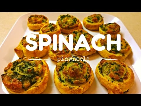 Pizza: How to Make Spinach Pinwheels