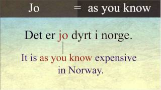 Norwegian words with more than one meaning (Jo)