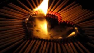 Brennendes Herz-Liebe brennt, ein Feuer für die Liebe!