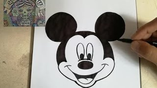 HOW TO DRAW MICKEY MOUSE / como dibujar a mickey mouse