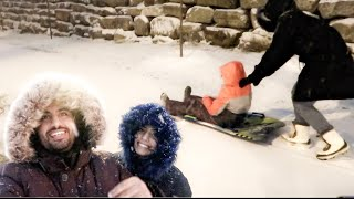 استقبلنا العاصفة الثلجية  - جنون الثلج