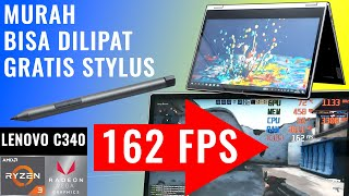 Gaming, Convertible, SSD, Stylus Pen: Review Laptop Lenovo Ideapad C340 AMD Ryzen 3 3200U Indonesia