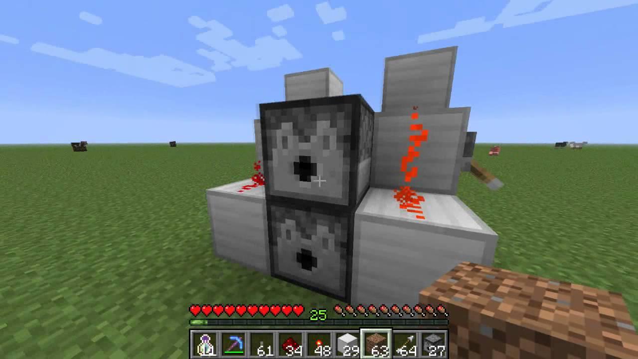 Comment faire une mitrailleuse sur Minecraft - Truc et