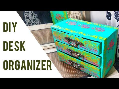 DIY How to make a cardboard drawer organizer (corrugated cardboard furniture)