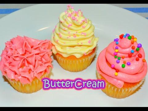 Buttercream Crema De Mantequilla Para Cupcakes Facil