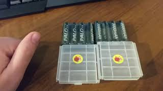Акумулятори АА фірми Palo 3000 mAh з Алі (aliexpress_ за 645 рубасів Розпакування огляд + тести