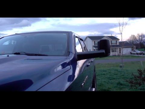 DIY install Dodge Ram TOW mirrors saves me $500