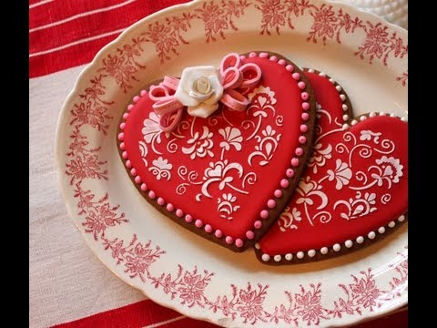 Biscotti cuore decorati ricetta per san valentino semplici e veloci youtube - Decori per san valentino ...