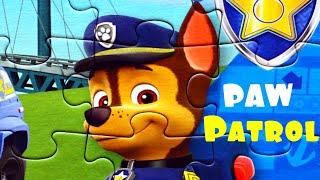 Щенячий патруль Гонщик полицейский собираем пазлы для детей с героями мультика PAW Patrol