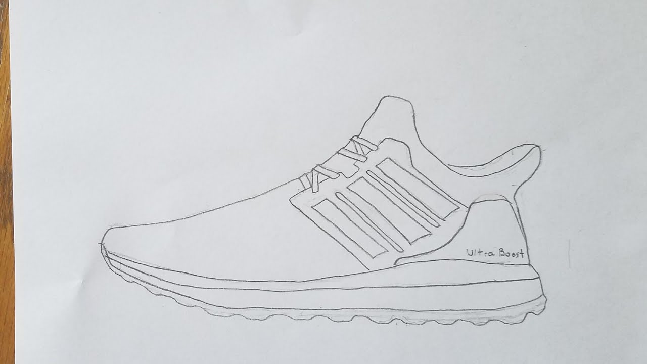 How To Draw The Adidas Ultra Boost Hyperlapse