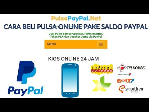 Cara Beli Pulsa Online Pake Saldo Paypal Pulsa Paypal Net