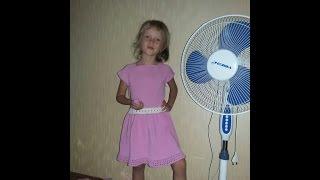 Платье для девочки спицами. Как я его вязала. Платье для детского сада