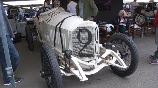 Trio of 1914 Mercedes-Benz Grand Prix racers at Festival of Speed