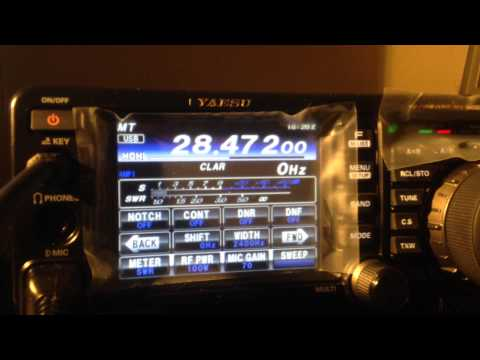 Yaesu FT-991 QSO SSB 10m with CE2NVS from Chile - IW2NOY