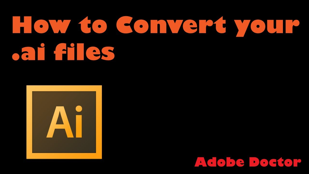 how to convert pdf to ai file