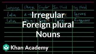 Irregular plural nouns |– foreign plurals | The parts of speech | Grammar | Khan Academy
