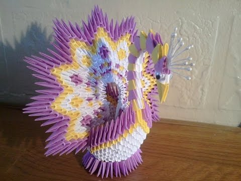 tutorial origami 3d peacock - photo#44