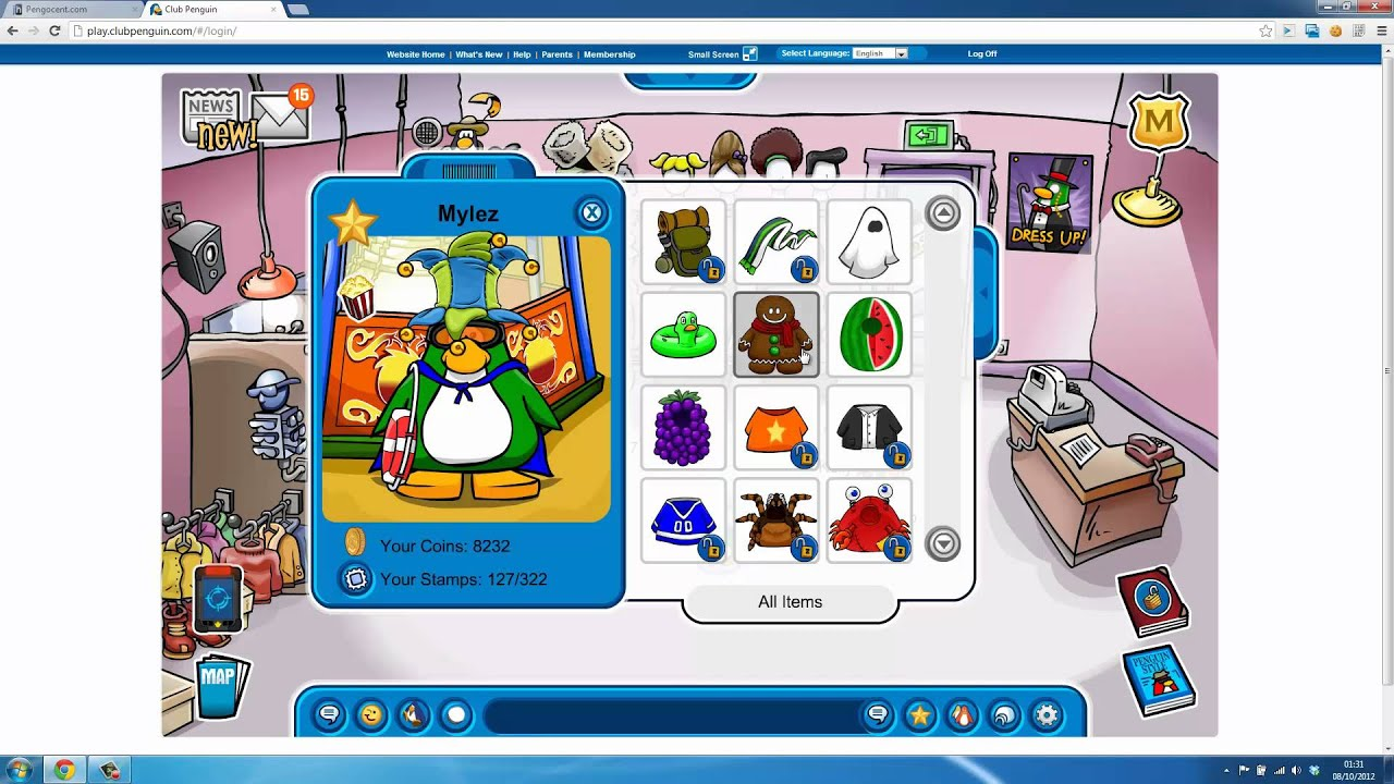 Club Penguin Furniture Adder 2017 Osetacouleur # Penguin Lodge Muebles