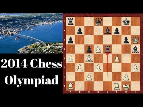 2014 Chess Olympiad Tromso, Norway - Round 1-2 Top 16 Sacrifices and Backfires!