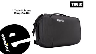 Thule Subterra 40 Liter Carry-On Bag Manufacturer Demo - etrailer.com