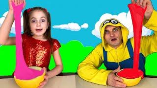 Masha and Melon Slime Challenge